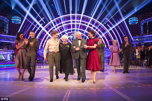 Tribute: Sunday's show also featured a moving dance telling the story ofMadge and Basil Lambert, who met and fell in love during WW2