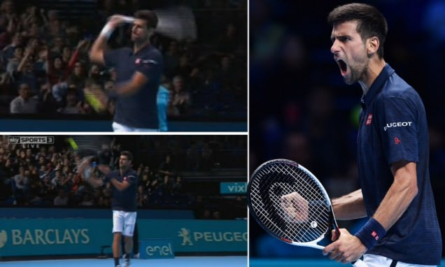 Novak Djokovic blasts back after facing questions on hitting ball into crowd during O2 win
