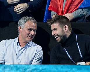 Jose Mourinho takes time out from Manchester United troubles to take in tennis at O2 Arena