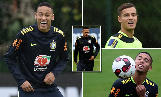Neymar and Co in high spirits in Brazil training as Tite's men prepare for World Cup