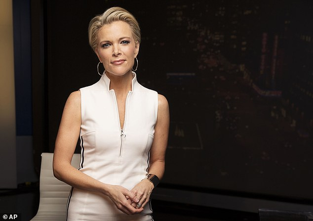 Megyn Kelly says Donald Trump tried unsuccessfully to give her a free hotel stay as part of what she called his pattern of trying to influence news coverage of his presidential campaign. She is pictured posing for a portrait in May