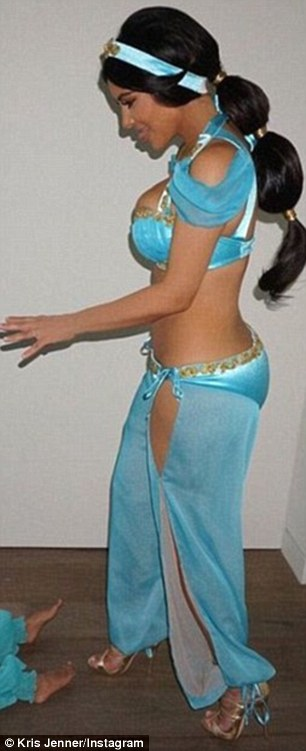 Then and now: Kim as Princess Jasime in 2009, left, and back in the same costume this year