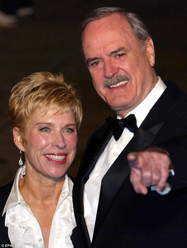 Cleese with third wife, Alyce Cleese. He said of both his living ex-wives that he hoped they would die 'in the nicest possible way'