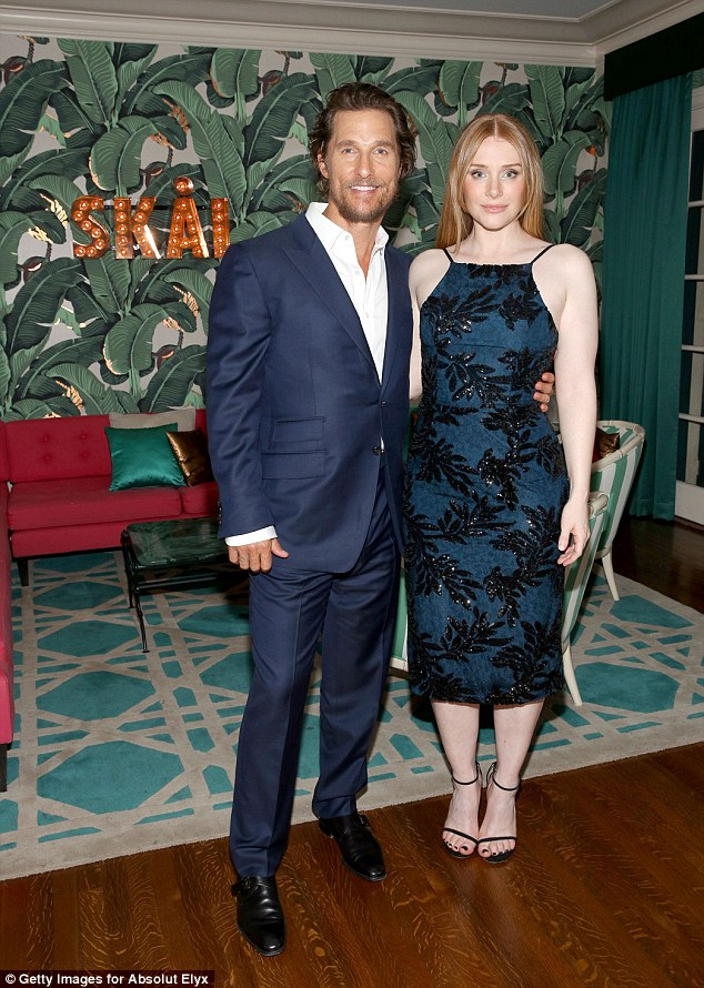 Dynamic duo: She stood for photos alongside her Gold co-star Matthew McConaughey