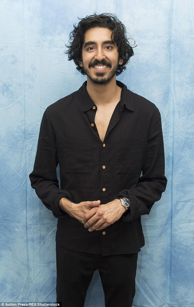 Co-star: British actor Dev Patel was also on hand for the high profile photocall