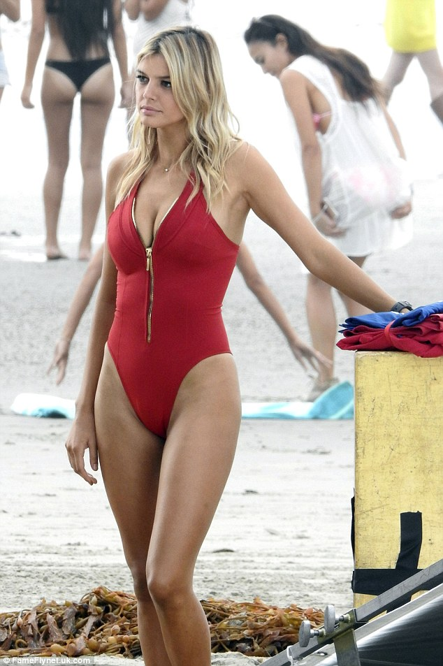 Into a swimsuit: Kelly has landed a role as CJ Parker in the remake of Baywatch