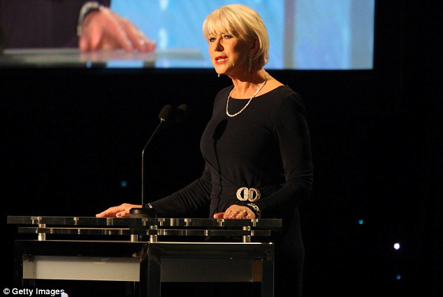 In the moment: Helen Mirren spoke on stage inside the Ray Dolby Ballroom