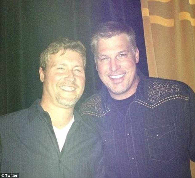 Former radio DJ David Mueller (right, with former co-worker Ryan Kliesch, left)initially sued Swift for slander and accused her of getting him fired from his job at a Colorado radio station