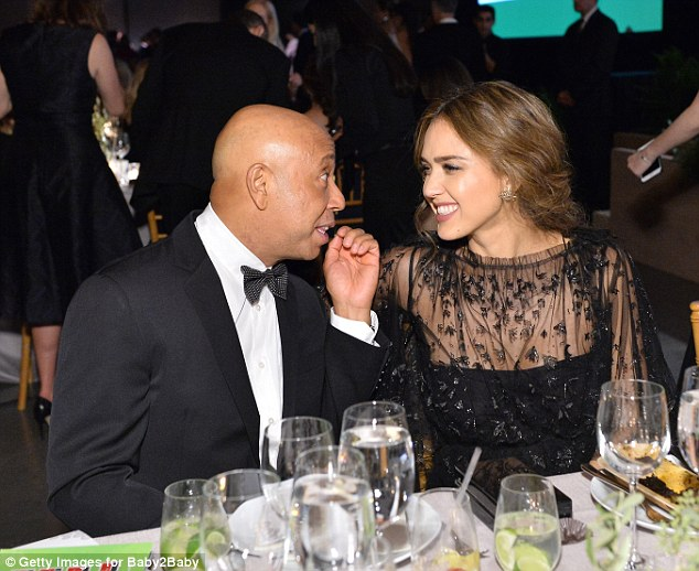 Money talks: Russell Simmons chatted with Jessica afterwards