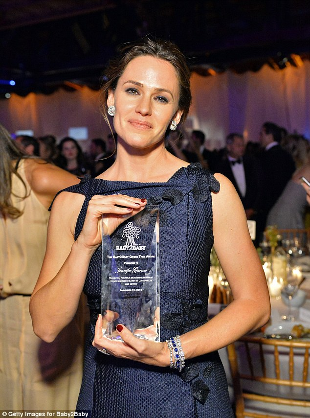 Gong: Jennifer was also honoured at the event