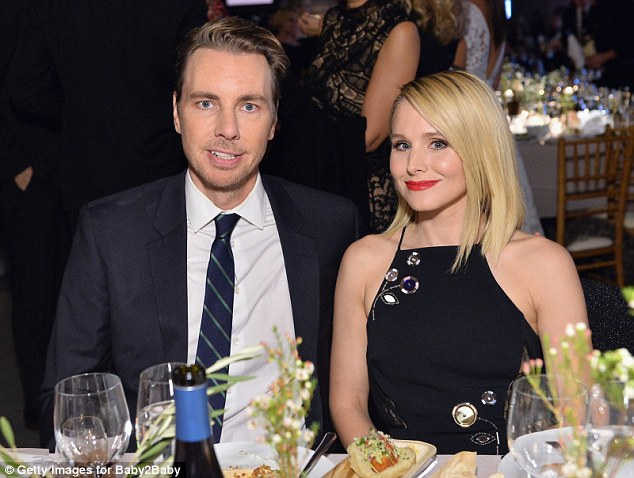 Married: Husband and wife Dax Shepard and Kristen Bell were also in twon