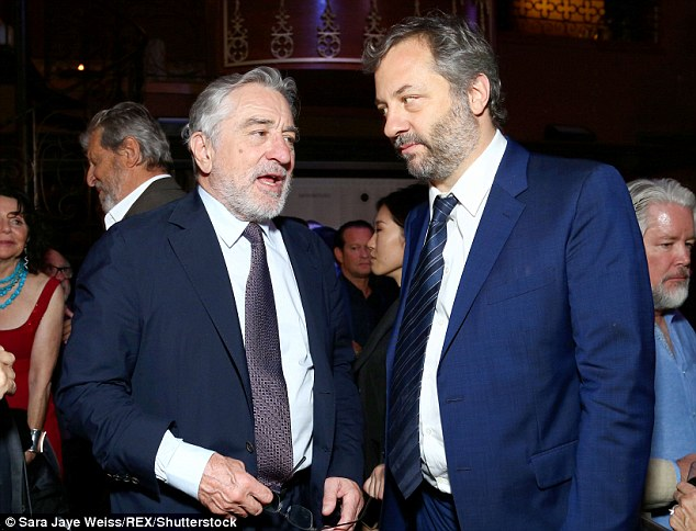 Man of the hour: Leading man of the movie Robert De Niro also made an appearance - playing a fading comic in the flick