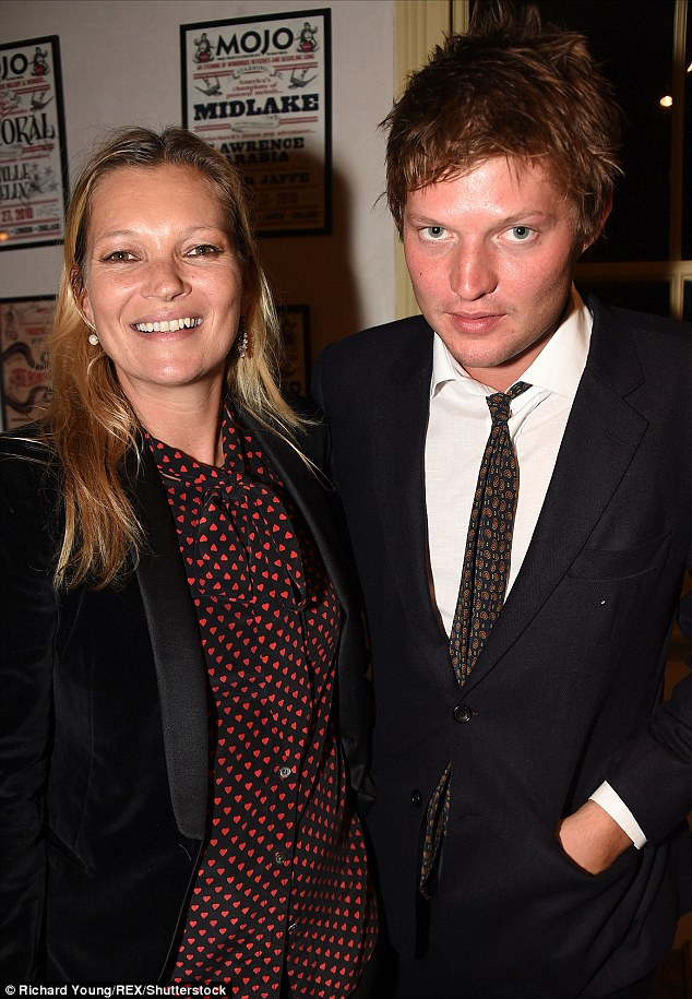 Getting cosy? Kate Moss and her toyboy former flame Count Nikolai Von Bismarck are said to be 'very much an item' after being spotted looking close as they attended the launch of David Bowie's musical Lazarus on Tuesday