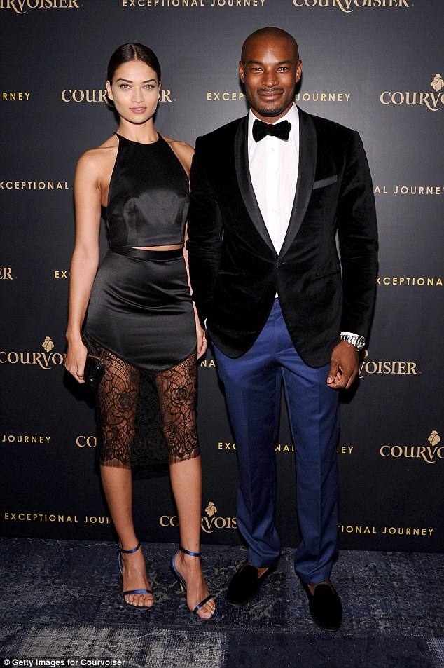 First love?Shanina began dating Tyson - who is 20 years her senior - after meeting on reality TV show Make Me A Supermodel in 2008 when she was still a teenager. Pictured in 2014