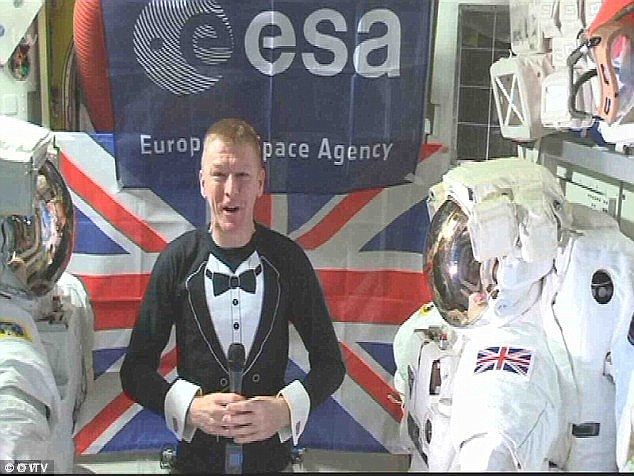 Mates: She received the tour from Tim Peake, the astronaut who presented her Global Sucess Brit Award from space in February