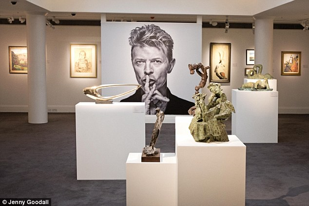 Bowie said of his love of art in The New York Times in 1998: 'Art was, seriously, the only thing I'd ever wanted to own. It has always been for me a stable nourishment. I use it'