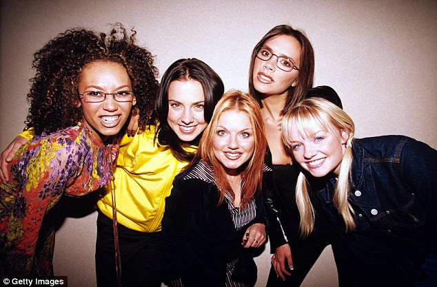 The rumour mill: Earlier this year, the hit maker denied sleeping with 'four out of five' Spice Girls, saying it was all a 'joke' (Pictured in 1995)