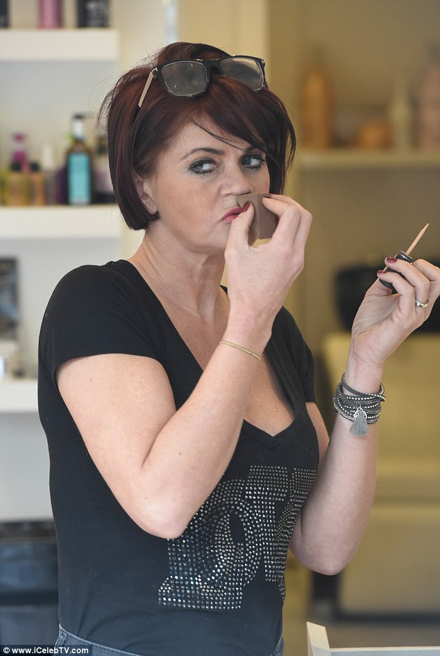 Pamper: The soap star was spotted enjoying a day of pampering at the Enhance Salon in Liverpool