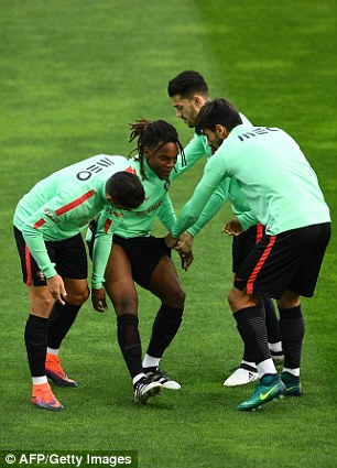 Renato Sanches and his team-mates mess about