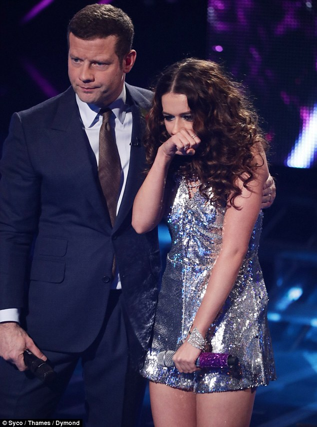 Not impressed: The judges didn't enjoy the performance with Louis stating it was like a major 'anti-climax' and 'wasn't good enough'
