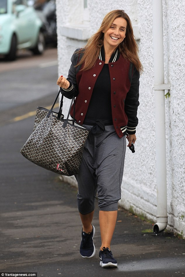 Oops: Louise Redknapp, 42, may have had her mind on the dancefloor on Thursday when she parked her £87,000 Mercedes G Wagon in a permit only bay