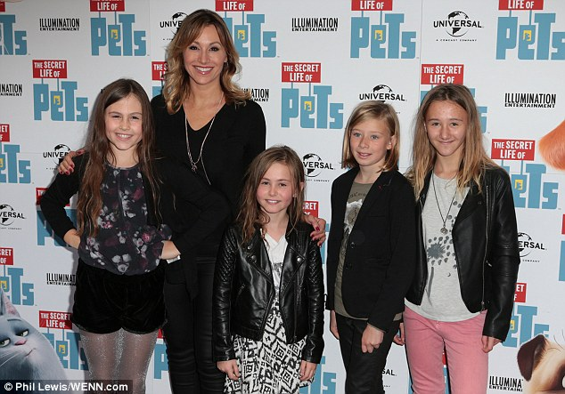 Family affair:Sophie Blake was joined by her children at the family-friendly event