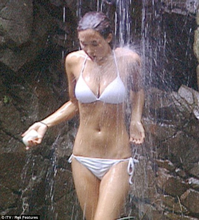 Two of a kind: Carol rivalledMyleene Klass' jungle shower in her little white bikini - which is widely regarded as one of the most iconic I'm A Celebrity... Get Me Out Of Here moments