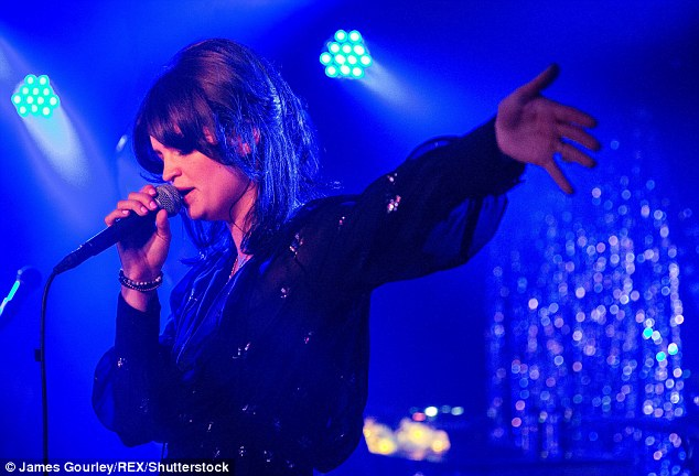 In action: Pixie performing one of her songs at her album's launch party on November 3