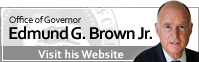 Home page for Governor Jerry Brown
