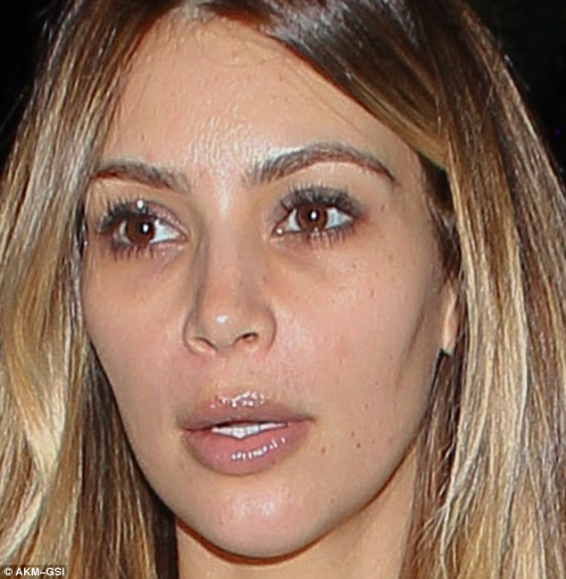 Pre-facial: The reality star had uneven skin in November before the treatments began