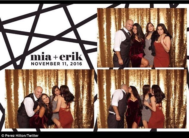 The source: The image was part of a bit of fun in a photo booth during wedding festivities that took place last Friday