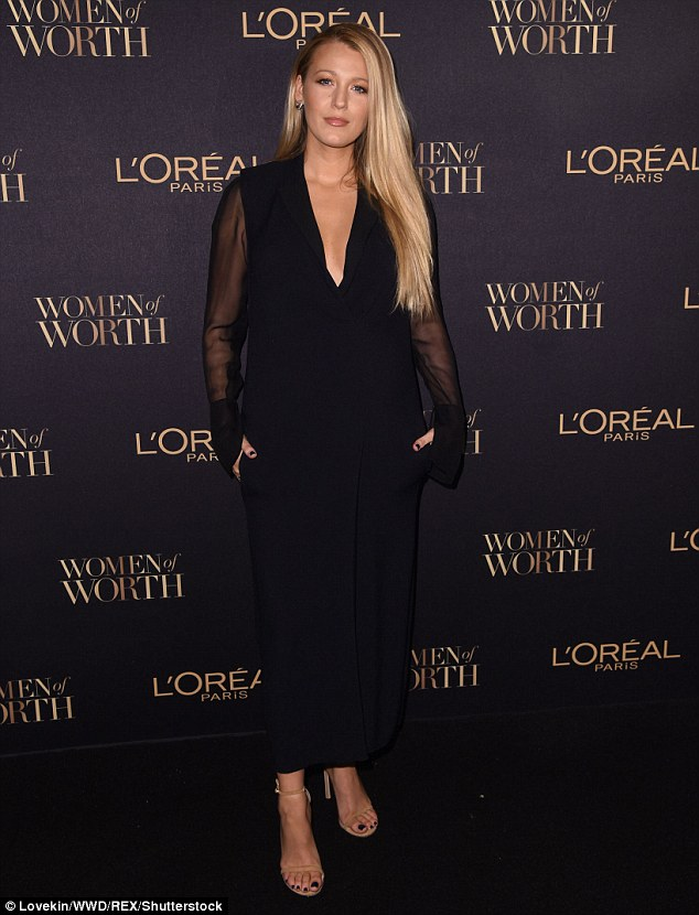 Looking phenomenal:Blake Lively made a rare public appearance on Wednesday L'Oréal Women of Worth Awards in New York
