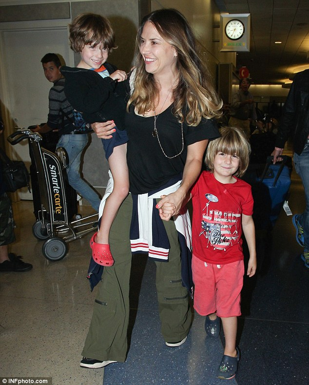 Tracking them down: Police have called off a search for Charlie Sheen's children with Brooke Mueller, seven-year-old twins Max and Bob (pictured in 2014)