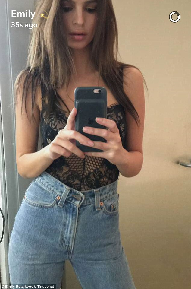 Got it:  Emily shared another revealing selfie on Snapchat