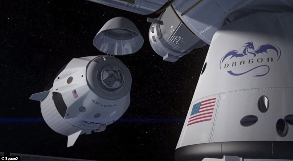 Crew Dragon will ultimately be used to take astronauts to the ISS, shown here in this artist's imperssion. Astronauts on the ISS recently installed the necessary docking rings for private spacecraft - including Crew Dragon and Boeing's CST-100 - to attach to the station