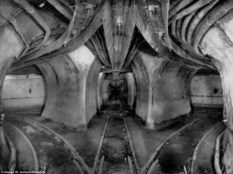Labyrinthine: This sectional view of the Illinois Tunnel Company's abandoned tunnels show tracks diverging at various points