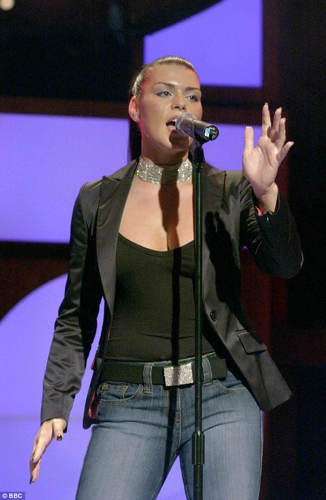 Talent:Carolynne is seen performing on Fame Academy in 2003