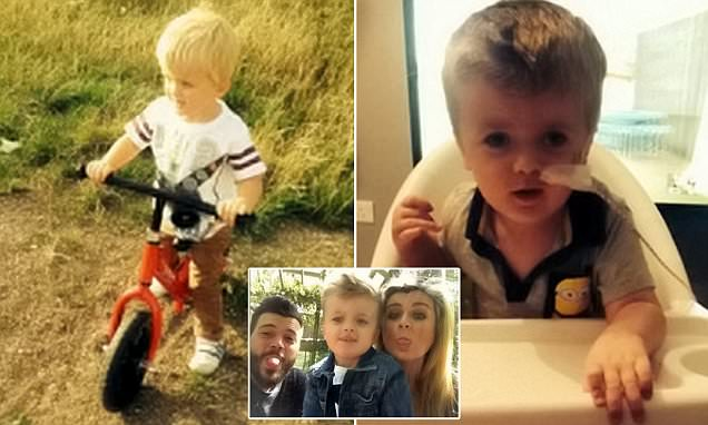 Boy needs operation to help him walk again after he suffered brain damage banging head