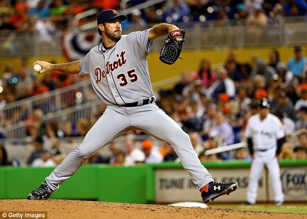 Missed out: Verlander plays for the Detroit Tigers but the Cy Young Award went to Boston Red Sox star Rick Porcello