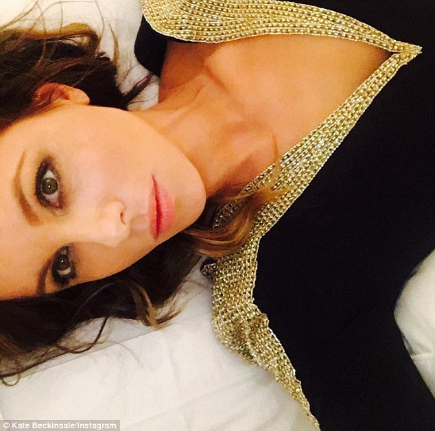Thanx: On Thursday night Kate posted an selfie to Instagram thanking the designers for the dress, and the invite