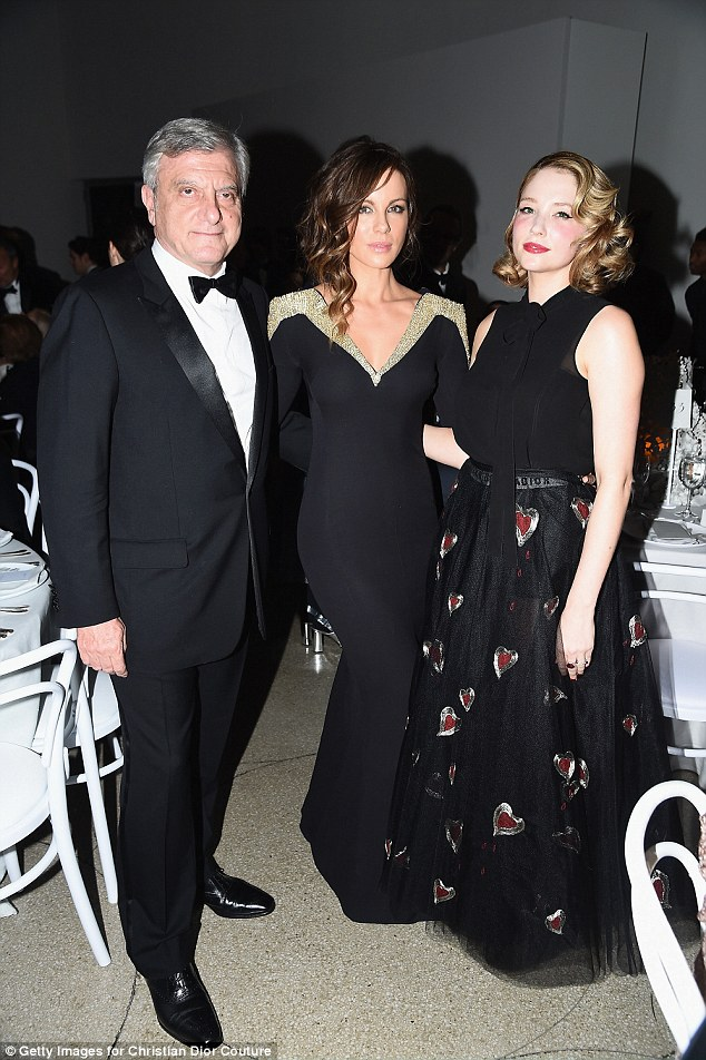 Worth knowing: The girls made sure to say hello to Dior CEO Sidney Toledano