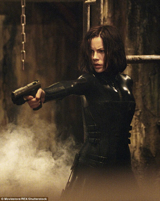 Vamp: Kate recently made her return as the gun-toting, latex-clad vixen, Selene, in a trailer for the up-coming fifth installment of the hugely popular Underworld series