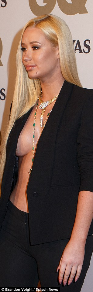 'Award winning vagina': Just hours before the magazine cover was release Iggy went braless on the GQ awards red carpet and talked about her vagina