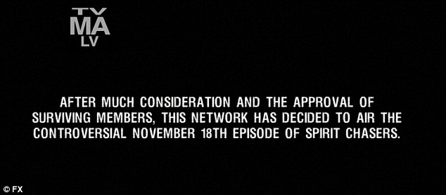 Controversial episode: The network decided to air the controversial episode of Spirit Chasers