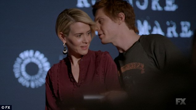 Together again: Audrey and Rory were close at the panel