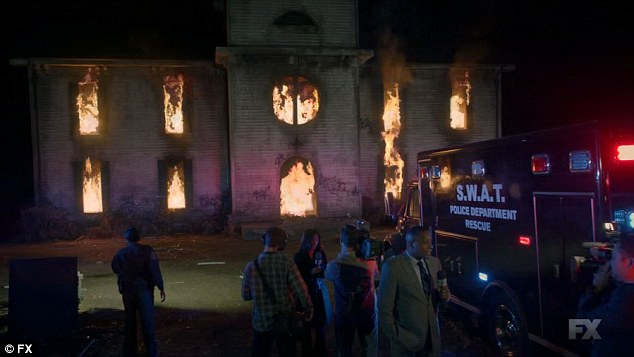 On fire: The Roanoke house was set on fire by Priscilla and Lee