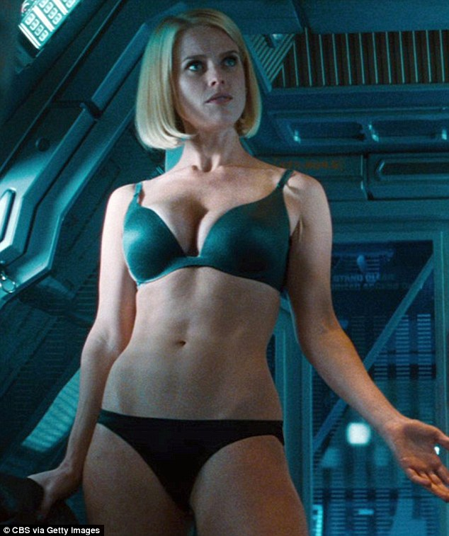 This is becoming a habit: She also showed off her impressive wares when she appeared as Dr Carol Marcus in Star Trek: Into Darkness