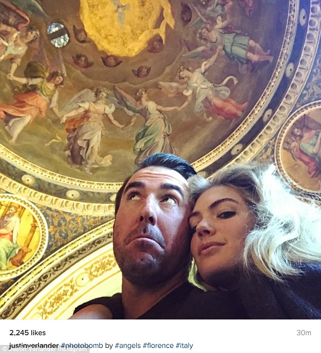 Romantic trip: This past weekend the couple enjoyed a vacation in the Italian city of Florence and Verlander shared this selfie on his Instagram