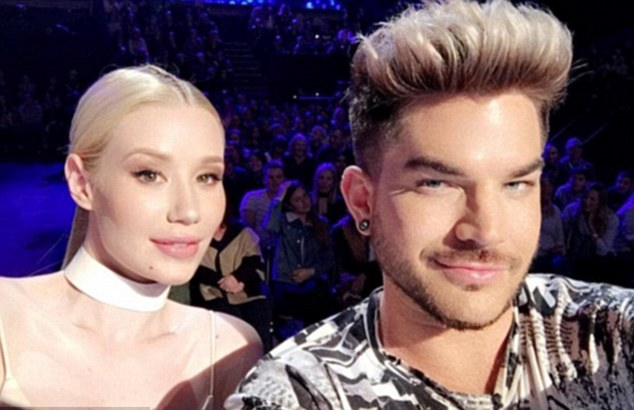 Trolls: Iggy is accused of having Botox after posting this picture with Adam Lambert
