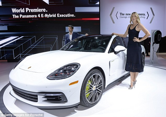 Promotional duties: Celebrities are a big part of the LA Auto Show as they help draw attention to new vehicles
